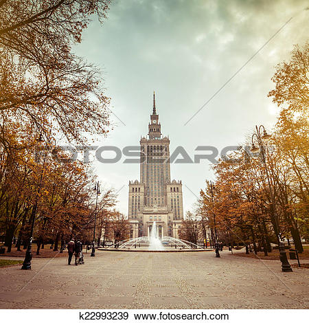 Stock Photograph of Palace of Culture and Science k22993239.