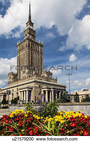 Stock Photography of Poland, Mazovia Province, Warsaw. The Palace.