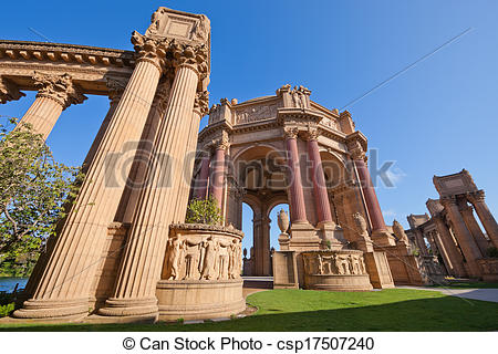 Stock Photo of Palace of Fine Arts in San Francisco, California.