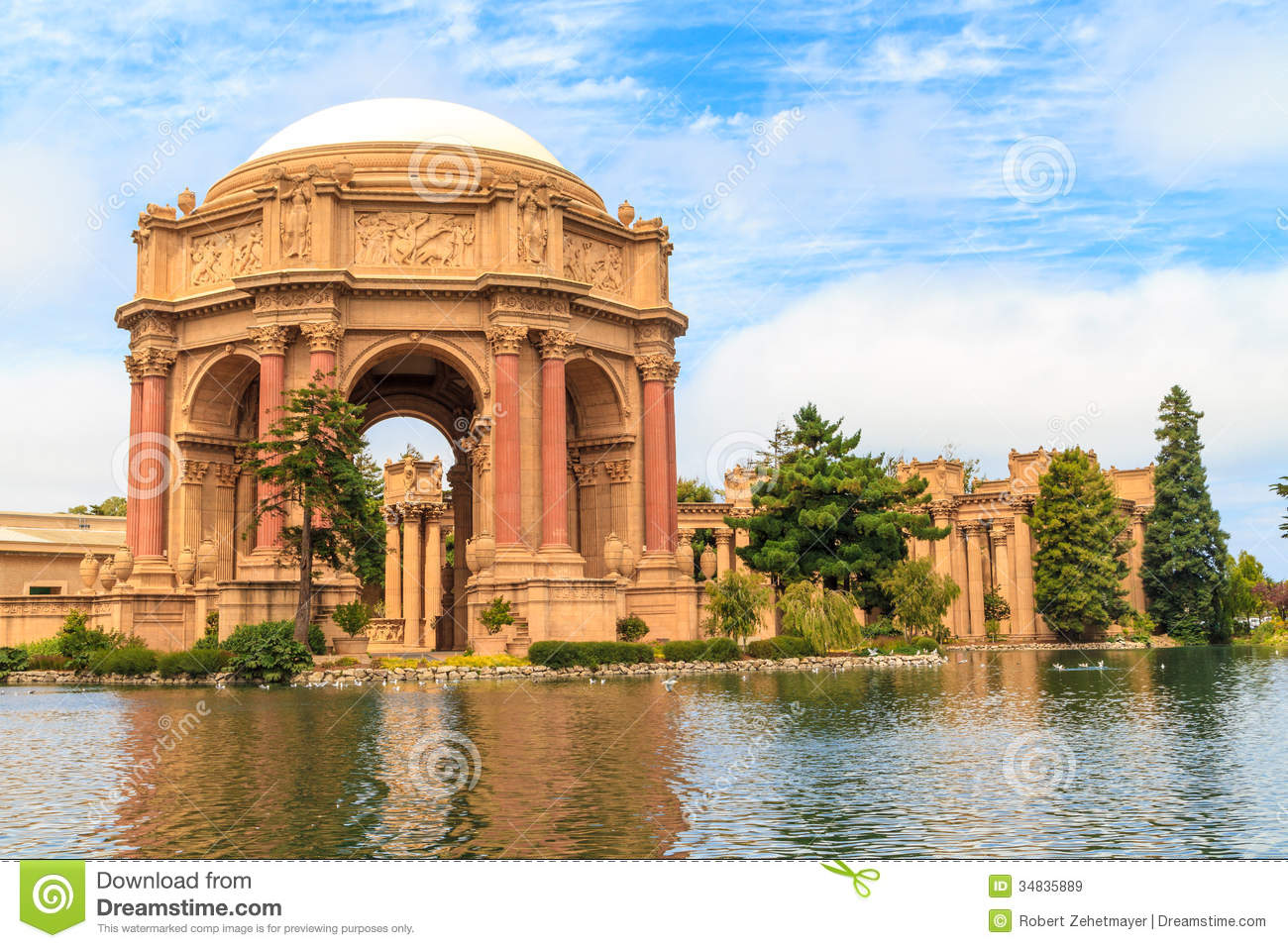 San Francisco, Exploratorium And Palace Of Fine Art Royalty Free.