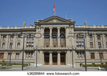 Stock Photo of Palace of Justice, Santiago, Chile k36289844.