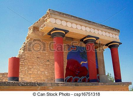 Stock Photography of Knossos palace at Crete, Greece.