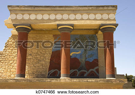 Stock Images of Knossos Palace k0747466.