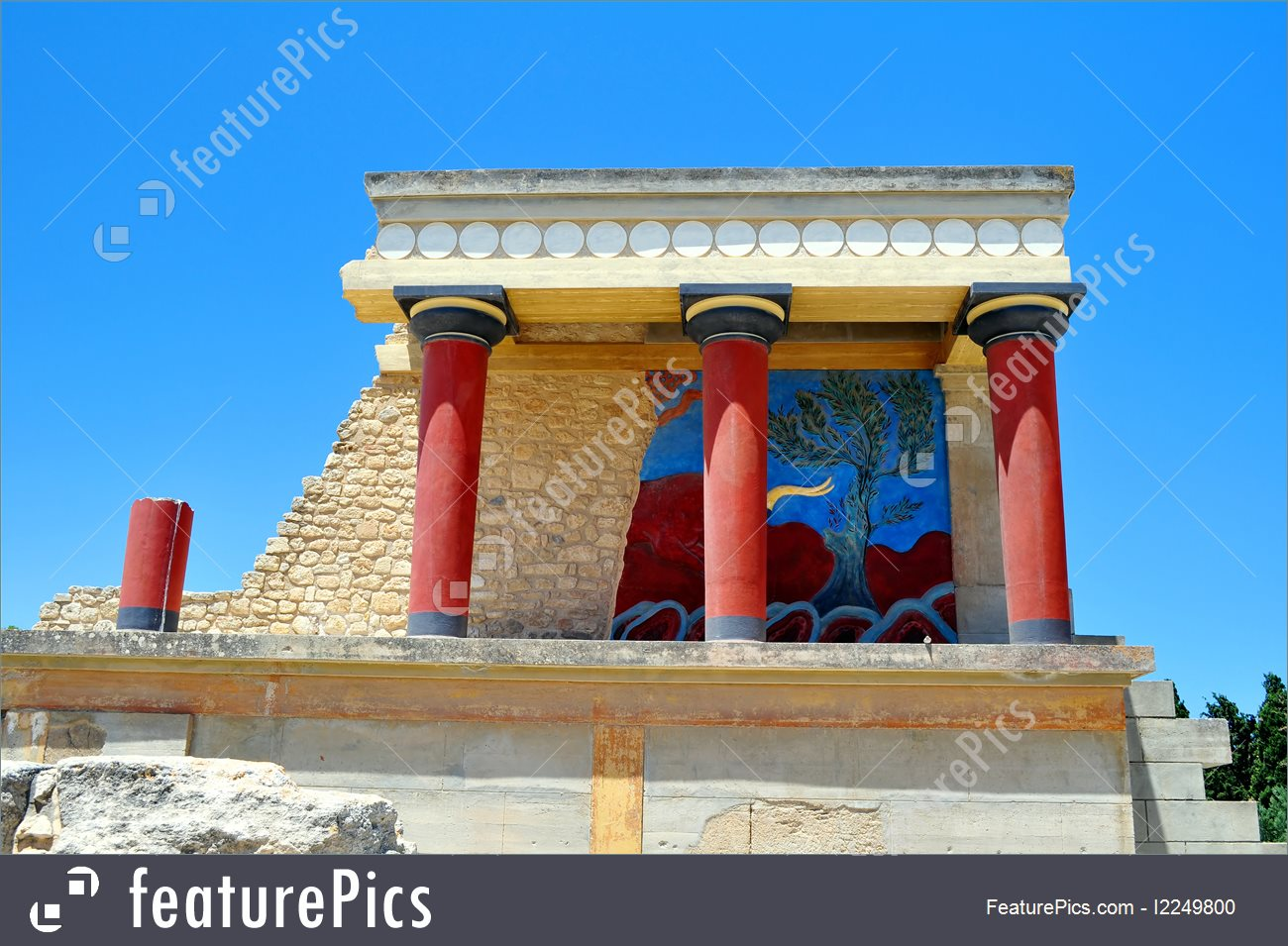 Europe: Archaeological Site Of Knossos. Minoan Palace. Crete.