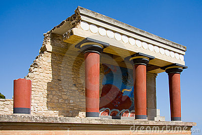 Minoan Palace At Knossos Stock Image.