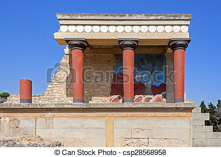Stock Images of Knossos palace in Crete.
