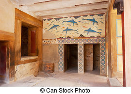 Stock Photo of Palace of Knossos. Crete, Greece.