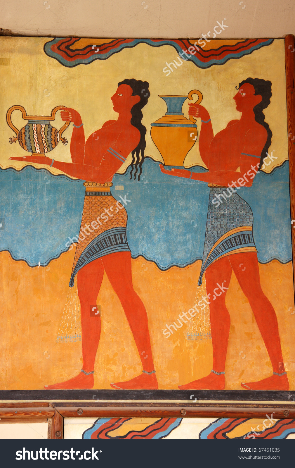 Greece Crete Heraklion Knossos Palace Bronze Age Archaeological.