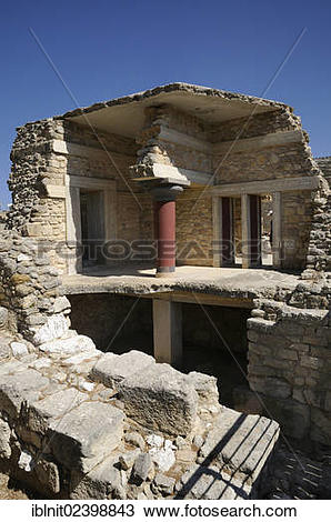 "Stock Photo of ""Reconstructed floors, Palace of Minos, Knossos."
