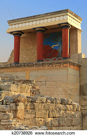 Stock Images of Ancient ruins of Knossos palace Crete k20738926.