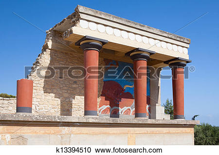 Stock Photography of Knossos palace at Crete, Greece. k13394510.