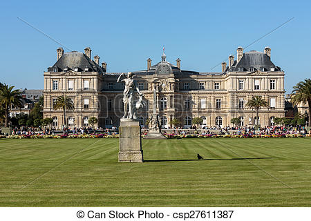 Pictures of Luxembourg Gardens in Paris.
