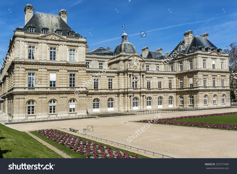 Luxembourg Palace Palais Du Petitluxembourg Home Stock Photo.