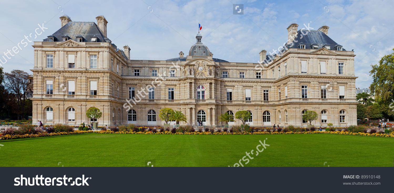The Palace Of Jardin Du Luxembourg. Paris. France Stock Photo.