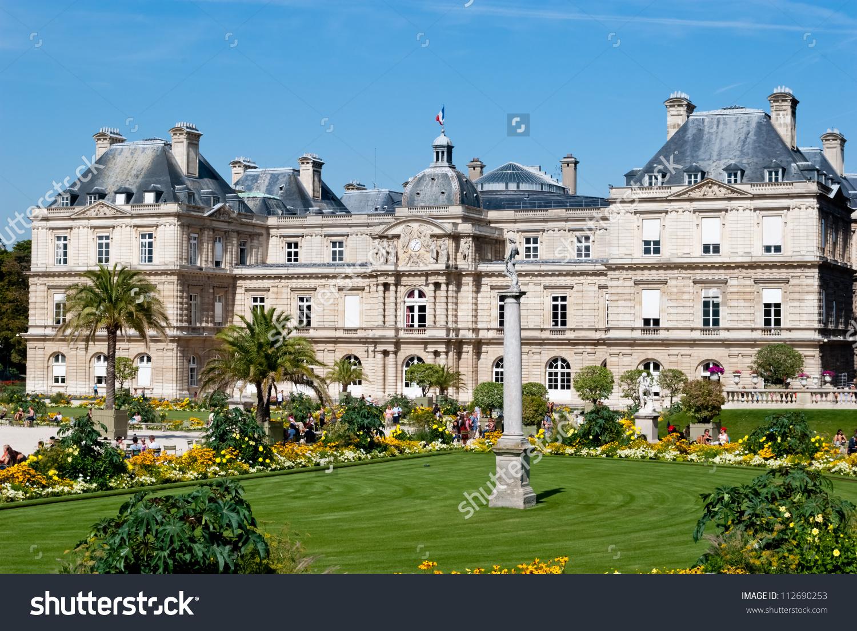 Luxembourg Palace Gardens Paris Stock Photo 112690253.