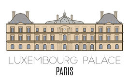 Luxembourg Palace Stock Illustrations.