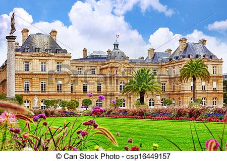 Stock Images of Luxembourg Palace in Paris, France..