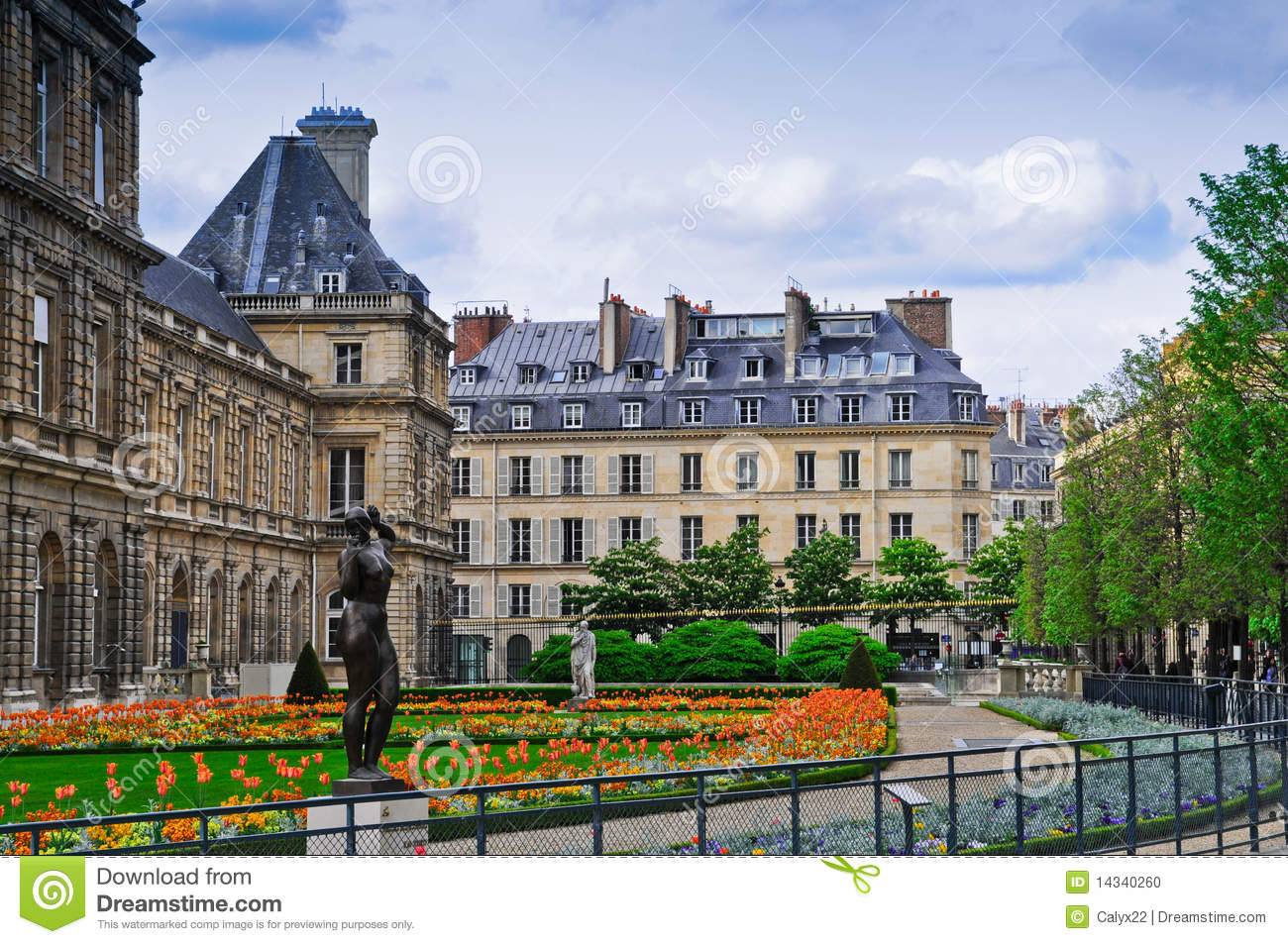 Luxembourg Palace And Park In Paris . Editorial Photography.