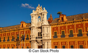 Stock Images of Palace of San Telmo Seville.