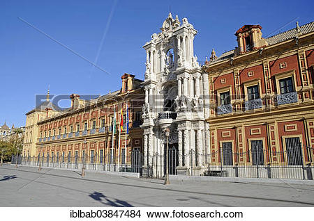 """Stock Photo of """"Palacio de San Telmo, government building, Seville."""