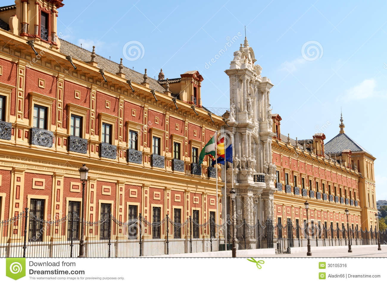 Palace Of San Telmo In Seville, Spain Editorial Photo.