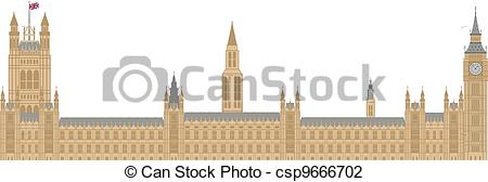 Vector Illustration of Palace of Westminster Illustration.