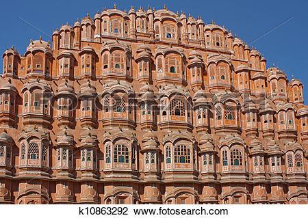 Stock Photo of Hawa Mahal, the Palace of Winds, Jaipur, Rajasthan.