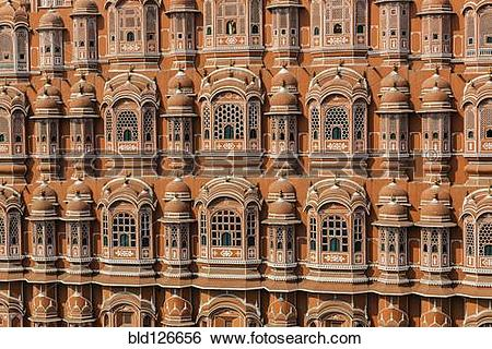 Stock Images of Full frame detail of the Wind Palace, Jaipur.