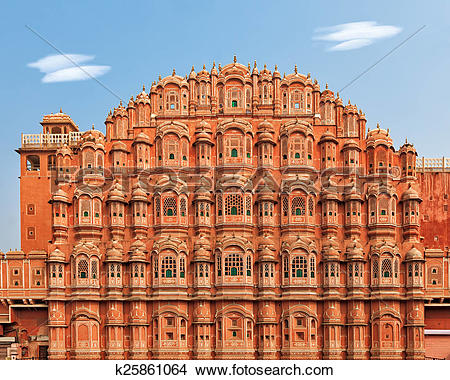 Stock Photo of Hawa Mahal, Palace of the Winds in India k25861064.