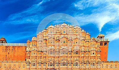 Hawa Mahal Palace In Jaipur, Rajasthan Royalty Free Stock Photo.