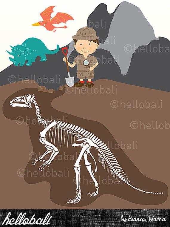 Paleontology clipart.