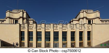 Stock Photo of Palais de Chaillot Paris.