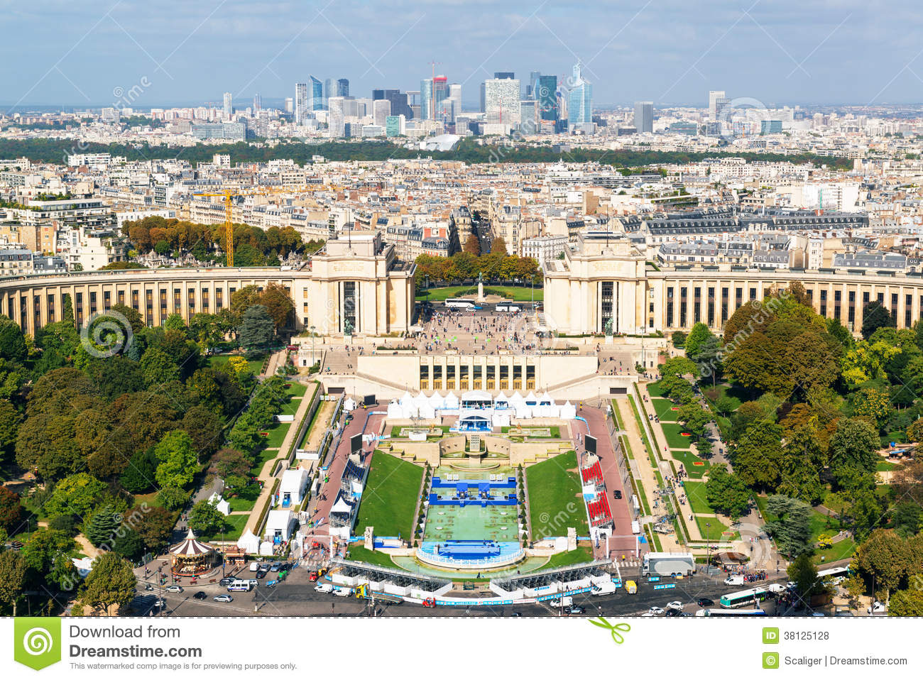 View Of The Palais De Chaillot From The Eiffel Tower Royalty Free.