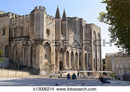 Stock Photo of Palais des Papes, Avignon k13006214.