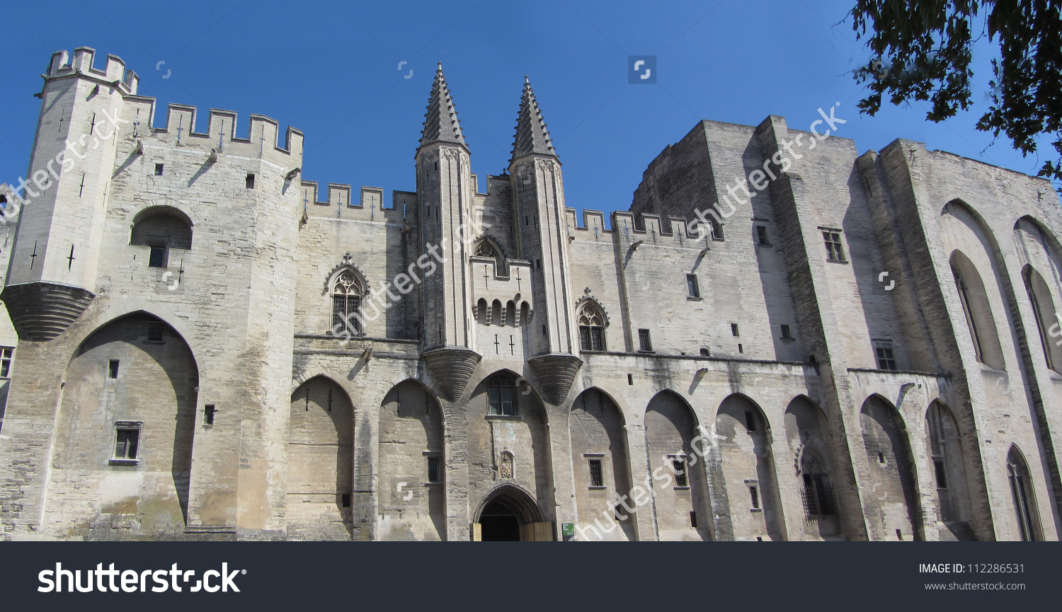Palais Des Papes (The Popes Palace), Avignon, France. It Is Listed.