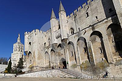 Palais Des Papes, Avignon, Provence, France Editorial Photography.