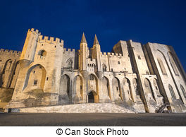 Stock Photo of Avignon (Provence, France), Palace of the Popes.