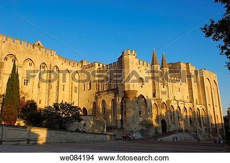 Stock Photo of Papal Palace (Palais des Papes), Avignon. Vaucluse.