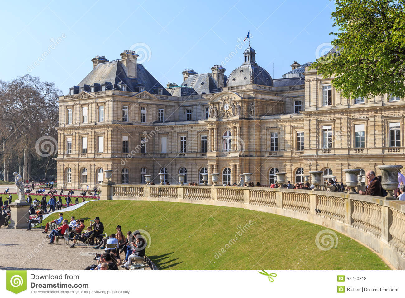 Palais Du Luxembourg Editorial Stock Photo.