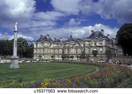 Stock Photo of Paris, France, Europe, Palais du Luxembourg from.