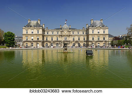 "Stock Photo of ""Palais du Luxembourg, Luxembourg Palace in the."