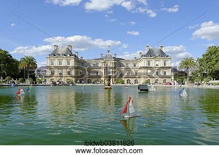 Luxembourg garden clipart.