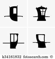 Palanquin Clipart Vector Graphics. 7 palanquin EPS clip art vector.