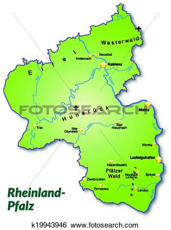 Clip Art of Map of Rhineland.