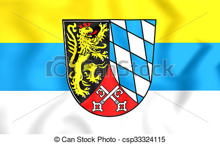 Clipart of Flag of Upper Palatinate Region, Germany..