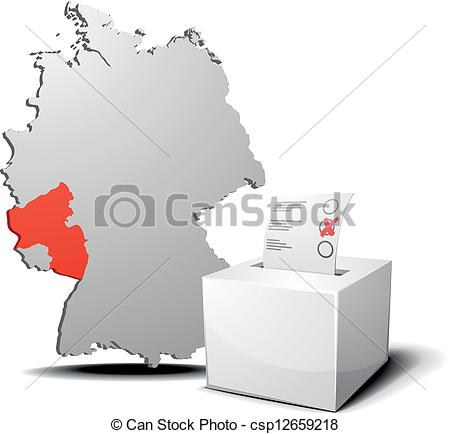 Vector Clip Art of vote germany Rhineland.