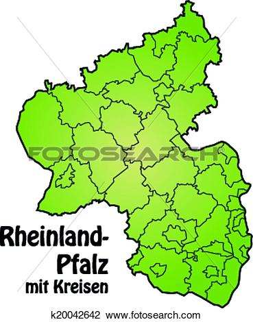 Clipart of Map of Rhineland.