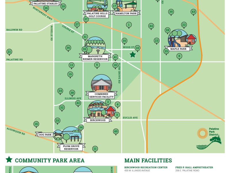 Palatine Park District Business Cards.