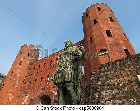Stock Photo of Julius Caesar statue.
