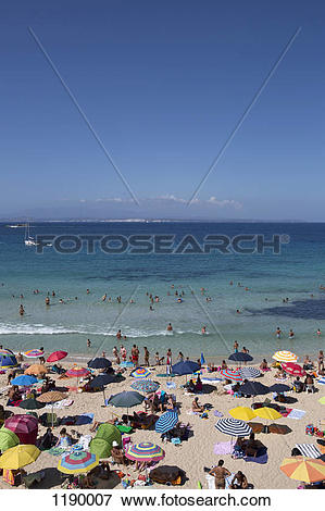 Picture of Sunbathers on the beach, Palau, Olbia.